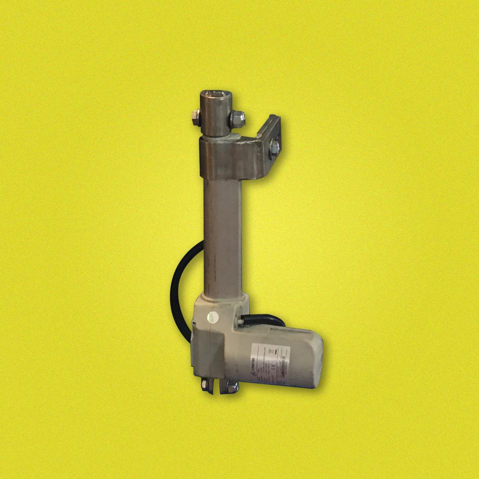 Un dispositivo di sollevamento sia elettrico che manuale il cui scopo è quello di sollevare le fasce di un vaglio - erimaki